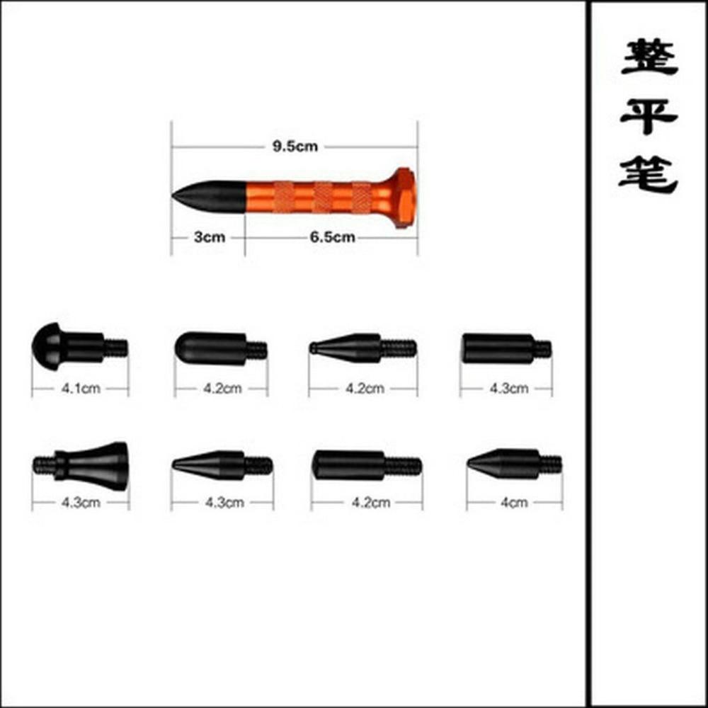 2 in One Slide Hammer Dent Puller Kit + Strumenti per la rimozione di - Set di attrezzi - Fotografia 5