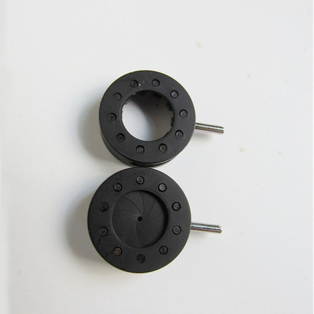 ФОТО 2pcs  Zoom 0.5-10.6mm iris Aperture Iris Diaphragm for Camera Microscope or Projection Lenses Mount Adapters