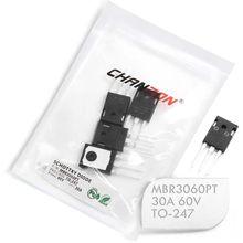 Diodes de redresseur de barrière Schottky MBR3060PT, 30A 60 V TO-247 (TO-247AD) 30 Amp 60 Volt MBR3060 PT, 5 pièces