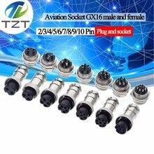 TZT 1 комплект GX16 2/3/4/5/6/7/8/9/10 штырьковый штыревой разъем 16 мм L70-78 круговой авиационный разъем провод панель Разъем для diy