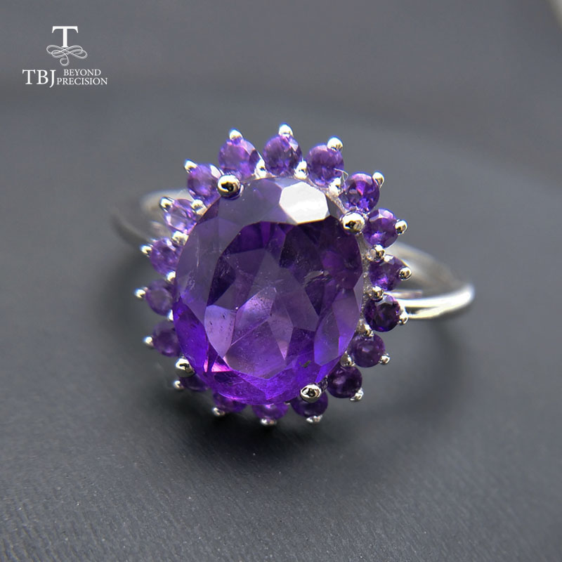 Tbj ,natural african amethyst lady gemstone ring,good luster amethyst ring for women in 925 silver gemstone jewelry,gift jewelry tbj delicate small ring with natural good color blue tanzanite gemstone lady ring in 925 sterling silver fine jewelry for women