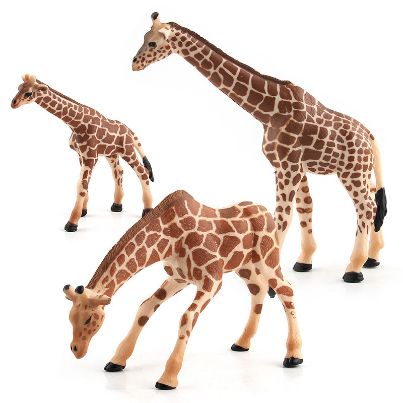 3 Kinds Simulation Giraffe Figure Collectible Toys PVC Animal Action Figures Wild Animal Toys Kids Cognitive Toys