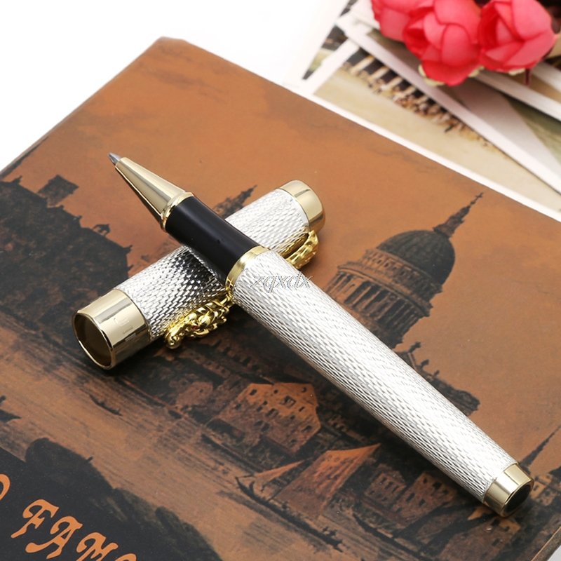 Classic Jinhao 1200 Complete Roller Ball Pen Dragon Clip Z11 Drop ship jinhao noblest old grey roller ball pen dragon and phoenix crystal