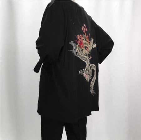 2018 summer linen kimono jackets men ethnic cotton linen jackets irregular embroidery kimono chinese tops cardigan hanfu indian