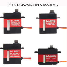 ALZRC 3PCS DS452MG Servos+1PCS DS501MG Servo For 380 450 480 500 RC Helicopter Aircraft