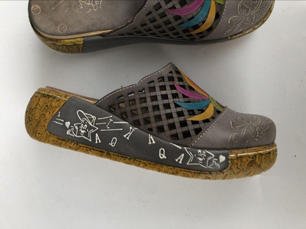 82 Zapatos Mano De Mori Las Piel Tallado Casuales Estilo Capa folk Grey Arte Vaca Cabeza A Careaymade Hecho Mujeres Puro Niña Retro Sandals0933 vCq17IwZ
