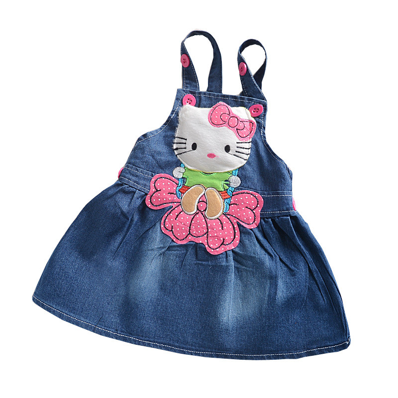 BibiCola cartoon children jeans dress baby girls cotton leisure overalls dress fashion toddler girl denim dress for summer bibicola cartoon children jeans dress baby girls cotton leisure overalls dress fashion toddler girl denim dress for summer