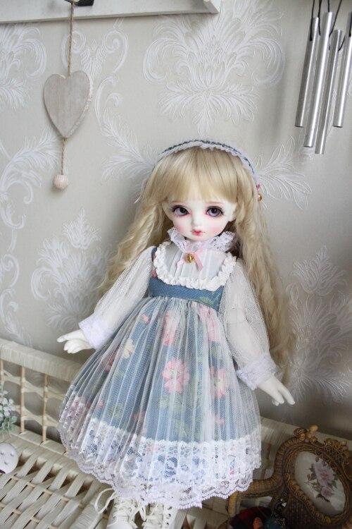 Blyth poupée vêtements 1/6 poupée robe blanc dentelle collier avec fleur décoration 1/6 1/4 BJD SD poupée 1/6 Blyth poupée accessoires