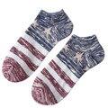 Moda de Algodón Suave Cómodo Respirable de Los Hombres Divertidos Calcetines Crew Tobillo Low Cut Calcetines de Navidad Ocasional harajuku sokken