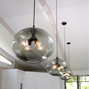Image 3 - Nordic moderno colorato ciotola di vetro lampade a sospensione E27 loft lampade a sospensione per la cucina soggiorno camera da letto ristorante hall hotel