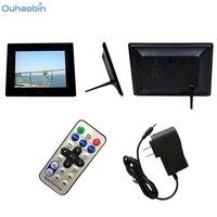 Ouhaobin Wielofunkcyjna Cyfrowa Ramka na zdjęcia 7 cali HD LCD Cyfrowa Ramka na zdjęcia z Slideshow Budzik Odtwarzacz MP3/4 rama Dec4