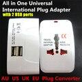 1000 Вт Все в 1 Универсальный Международный Plug Адаптер, World Travel AC зарядное Устройство Адаптер, AU США ВЕЛИКОБРИТАНИЯ ЕС Конвертер с 2 USB порт