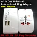 1000 W Todo en 1 Universal Adaptador de Enchufe Internacional World Travel AC Cargador Adaptador, AU REINO UNIDO EE.UU. UE Convertidor con 2 USB puerto