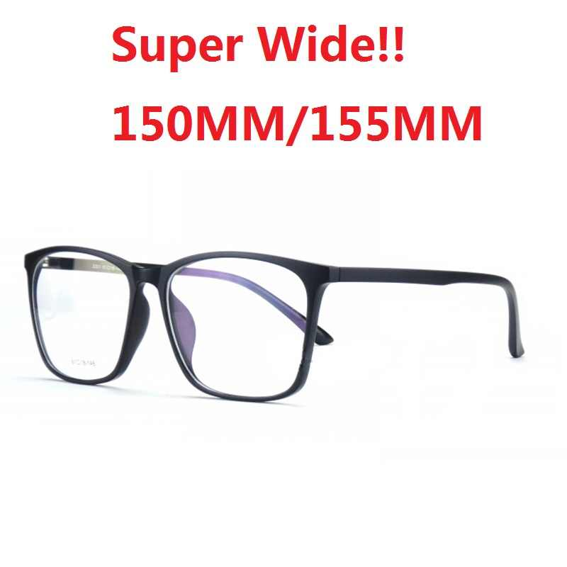 aa831b4ba2 Vazrobe Super Wide 155mm 150mm Oversized Prescription Glasses Men Women  Black Anti Blue Light Progressive