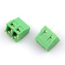 Клеммная колодка для печатной платы разъем KF127-2P шаг: 5,08 мм/0,2 дюйма Зеленый 5 мм KF127 5,08 мм 300 В 10A