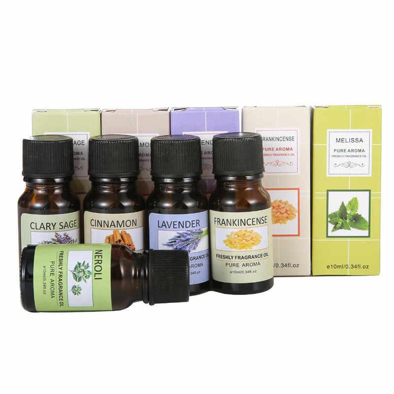 10 ML 12 รส Essential น้ำมัน Diffuser น้ำมันหอมระเหย Pure Aroma Oil Mint Tea Tree Lavender Patchouli Oil ช่วย sleep TSLM1