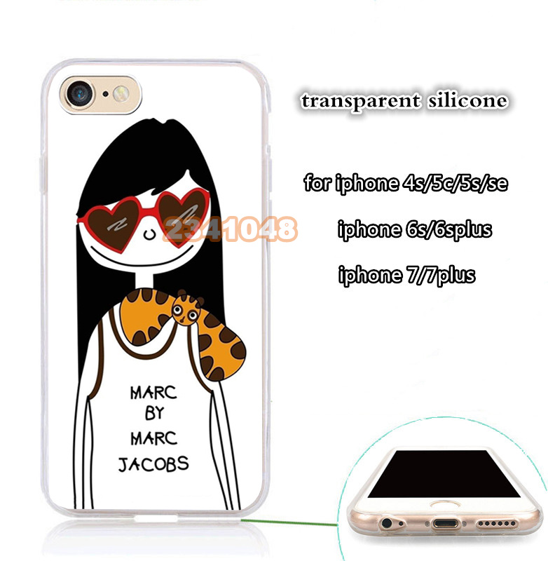 Crânio da menina limpar transparente suave silicone caixa do telefone móvel para iphone 5s se 6 6s 6plus 7 7 plus 8 8 plus X XR XS MAX tampa do caso