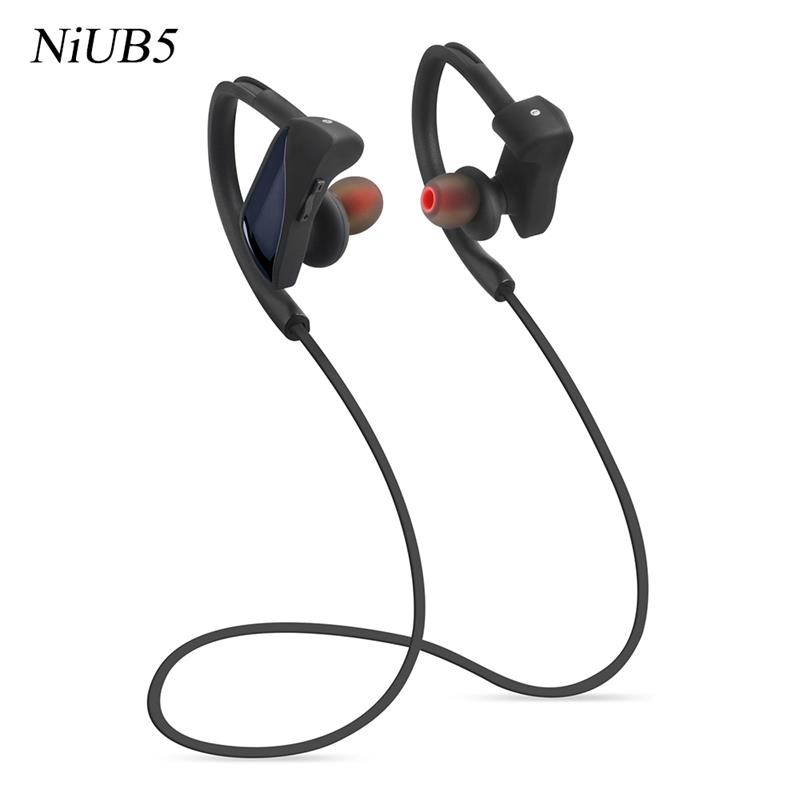 2016 Bluetooth Headsets for iPhone, NiUB5 deportivos-007 Gym Sweatproof Headphones with Mic Apt-X auriculares deportivos