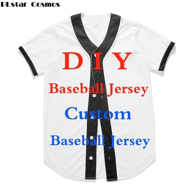 ba1eb15b PLstar Cosmos Fashion 3D Print Custom Baseball Jersey Summer Short Sleeve  Design For Drop Shipping And Wholesale Unisex t shirt