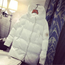 Coat Women,Loose White Winter Jacket Women,Hooded Parka,Down Cotton Womens Winter Jackets,Coats Female Thick Warm parka CM146