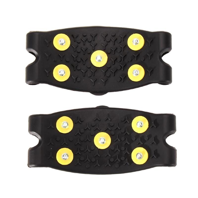 New Arrival Anti Slip Snow Ice Climbing Spikes Grips Crampon Cleats 5-Stud Shoes Cover Free Shipping