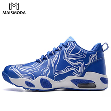 MAISMODA Men's Breathable Running Shoes Male Shoes Lace Up Sneakers Comfortable Jogging Sneakers 4 Colors Plus Size 39-45 YL020