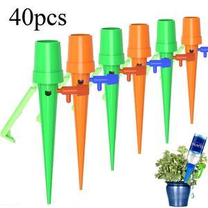 Image 1 - 40Pcs Auto Drip Irrigatie Watering Systeem Automatische Watering Spike Voor Planten Bloem Indoor Huishoudelijke Waterers Fles