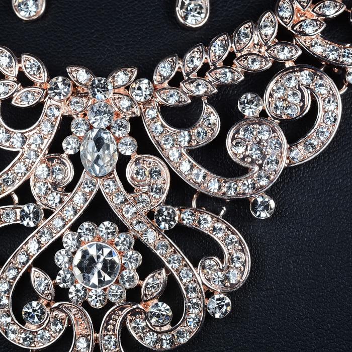 SLBRIDAL Nykomst Rose Gold Österrikiska Crystal Rhinestones Alloy - Märkessmycken - Foto 4