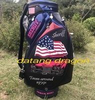 original datang dragon golf bag SHERIFF USA flag Premium American bag black colors golf clubs bag