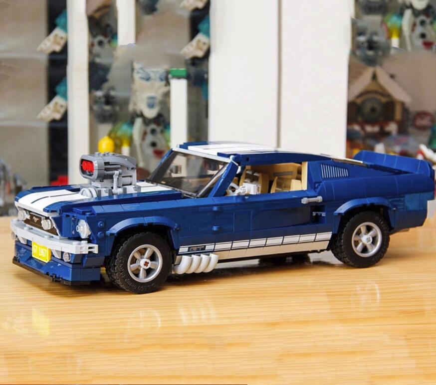 في المخزون 21047 1684 قطعة الخالق الخبراء فورد موستانج 1967 GT500 متوافق 10265 اللبنات الطوب اللعب هدية-في حواجز من الألعاب والهوايات على  مجموعة 1