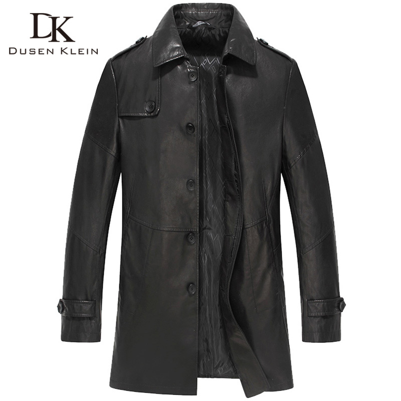 Online Buy Wholesale trench leather coat from China trench leather