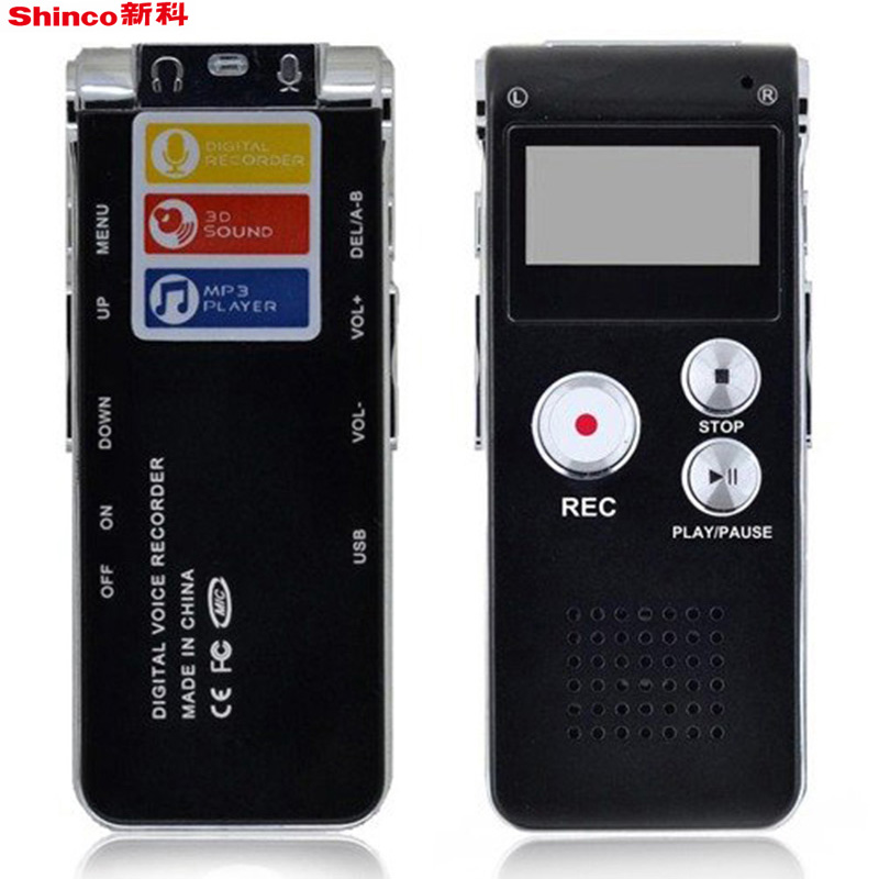 professional 8gb voice recorder usb rechargeable dictaphone lcd recorder digital audio recording. Black Bedroom Furniture Sets. Home Design Ideas