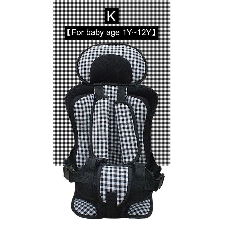 1 шт. удобный детский коврик для сидения, Детские Портативные дорожные подушки для стульев с ремнем безопасности, коврики для сидения для малышей в возрасте От 6 месяцев до 12 лет - Цвет: K