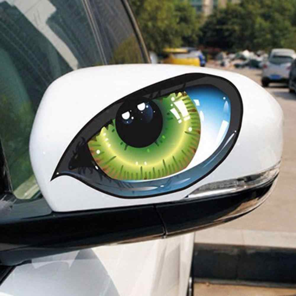 Car Stickers 2Pcs 3D Stereo Reflective Cat Eyes Car Sticker Creative Rearview Mirror Decal Universal Eyes stickers