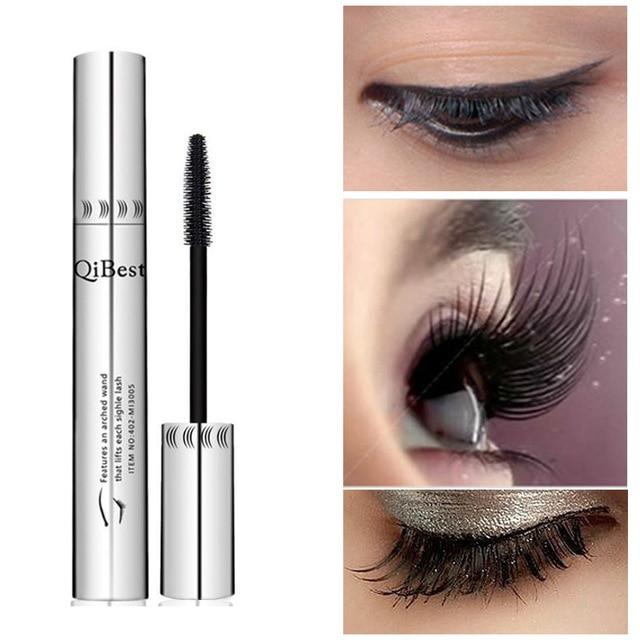 ac45a099d56 Bushy Mascara Waterproof Non-Smudge Silicone Brush 3d Colossal Black  Mascara Fibre Eye Makeup Silver