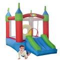 YARD ребенка Подарок Надувные Вышибалы Мини Tramproline Надувной Замок Прыжки Дом с Горкой с Вентилятором