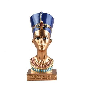 ElimElim Cleopatra Head Portrait Figurine Resin Arts Crafts Egypt Home Decor Miniature Ornaments