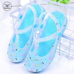 Новинка; Повседневная рабочая обувь для медсестры; мягкая Летняя женская обувь; дышащие сандалии с отверстиями; садовая обувь; пляжные шлеп...