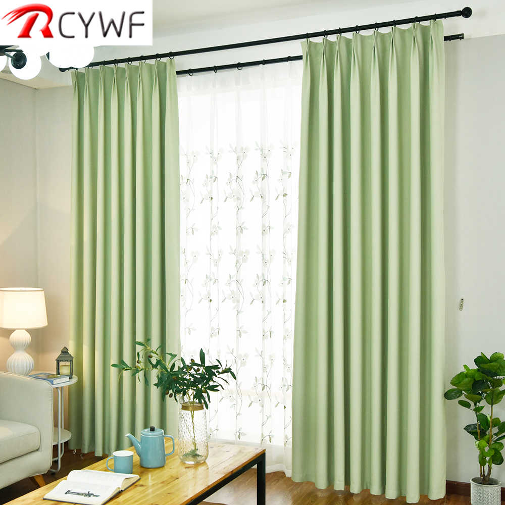Modern Blackout Curtains For Living Room Pink/green/blue/purple Bedroom Finished Drapes For Window Treatment