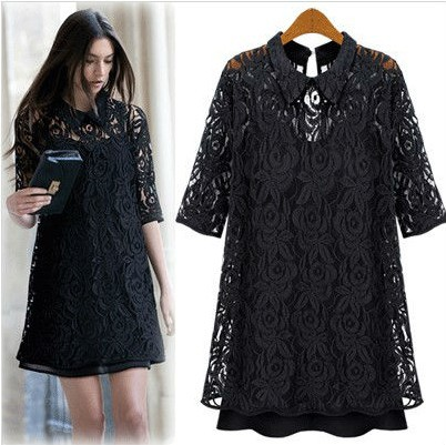Online Shop Free Shipping Western 2013 fashion dresses women black ...