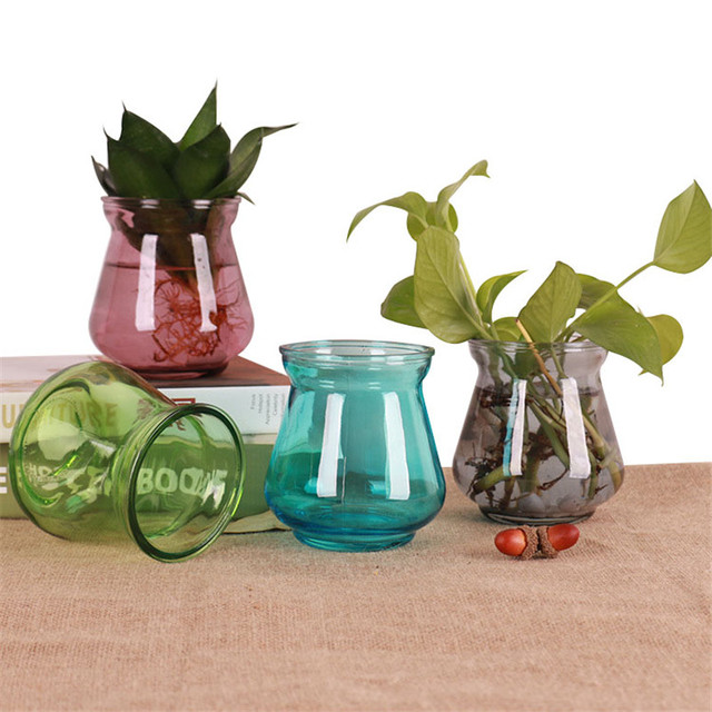 Mini Diy Home Decor Hydroponic Container Tabletop Glass Vases Modern