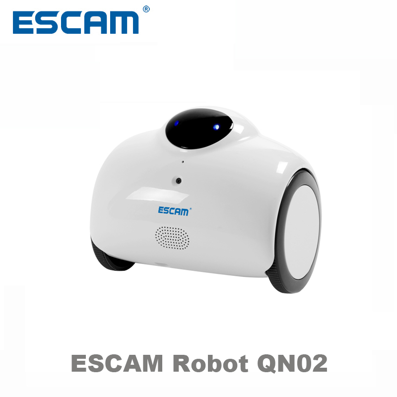 Escam Robot QN02 Smart WIFI IP Camera HD 720P 1MP Wireless Baby Monitor Touching Interaction Camera Two Way Audio Android/IOS zipower pm 5116