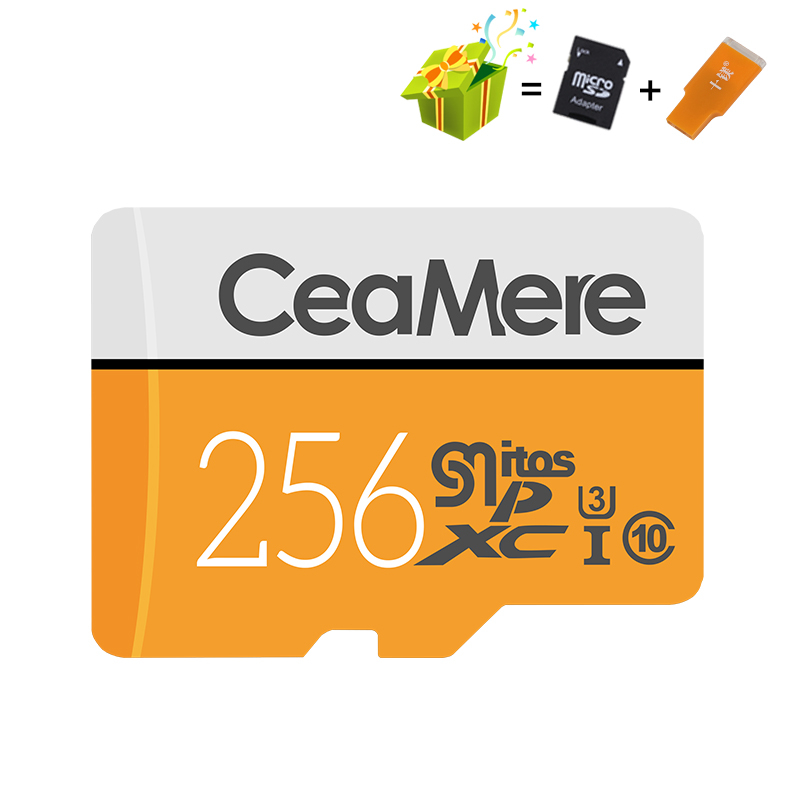 Image 3 - CeaMere Micro SD Card 256GB/128GB/64GB UHS 3 32GB/16GB/8GB Class 10 UHS 1 4GB Memory Card Flash Memory Microsd Free Crad Reader-in Memory Cards from Computer & Office