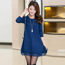 9cccb72b2e Autumn New Oversized Knitwear Cute Loose Pullover Woman Big Size Winter  Dresses Large Size Knitted Sweater
