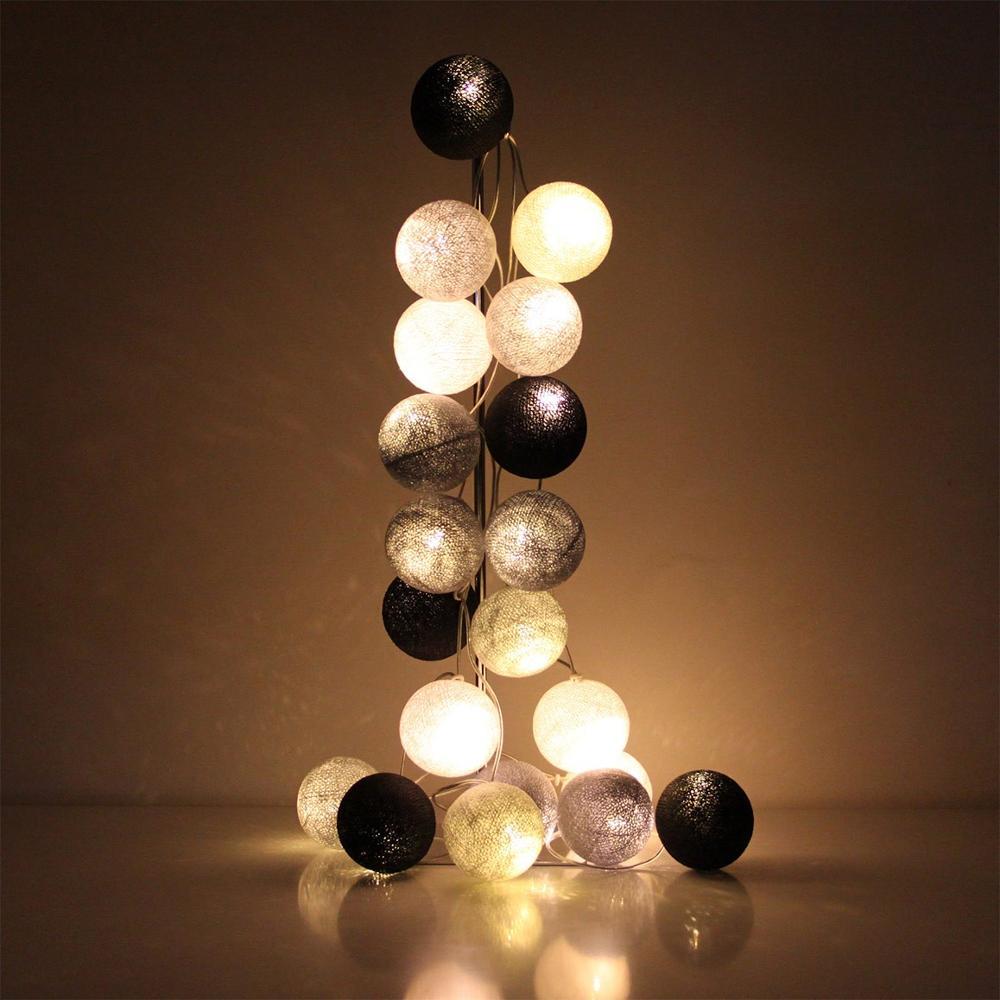 Cotton Ball String Fairy Night Lights Kid Bedroom Home Decor Plug In Battery USB Power Party Luminaria Natal Garland Lantern