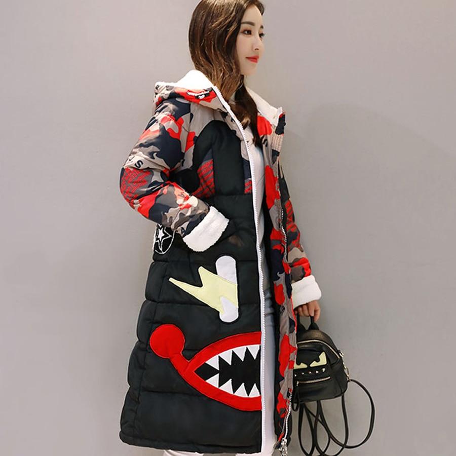 color 3 De La 2018 D'hiver color color Vers Bas Outwear Manteau Coton Épaissir Impression Arrvial Color1 Femelle 4 Taille Long Veste 8 2 Dessin Chaud Nouveau color color color 7 Femmes Le Plus 6 Parka 5 color Animé qFT5px8qwn
