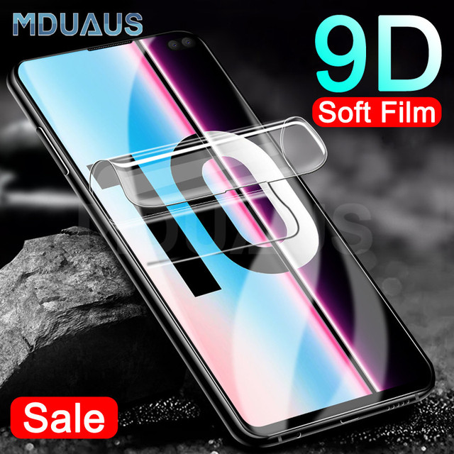 9D Curved Soft Protective Film For Samsung Galaxy S8 S9 S10 Plus S10e Note 8 9 S7 Edge Full Cover Screen Protector Film Case