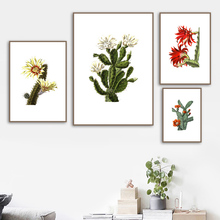Boho Cactus Flower Botanical Wall Art Canvas Painting Nordic Posters And Prints Succulent Plants Wall Pictures For Living Room nordic poster succulent plants posters and prints cactus cuadros wall art canvas painting wall pictures for living room unframed