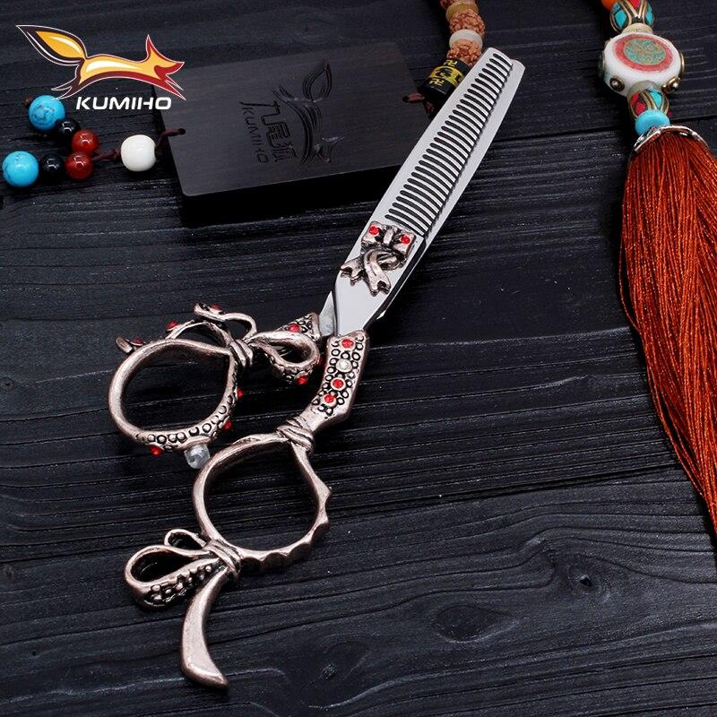 KUMIHO profesionální vlasy ztenčovací nůžky 6 palců 30 zubů tenčí vlasy Vysoce kvalitní nerezové nůžky na vlasy na prodej