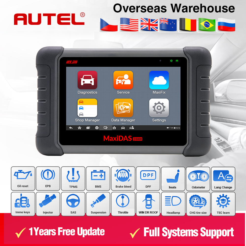 Automotive Scan Tool >> Us 802 0 2018 Latest Original Autel Maxidas Ds808 Online Update Automotive Diagnostic Tool Ds 808 Scanner Update Version From Autel Ds708 In Car